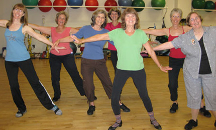 Line dancing for fun and fitness