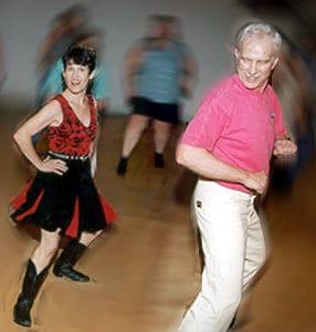 Joan and Robert dancing