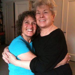 Joan Price and Betty Dodson hug 2011